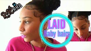 BABY HAIR tutorial (My secret to lay & slick edges)