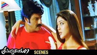 getlinkyoutube.com-Srimannarayana Movie Scenes - Parvathi Melton trying to convince Balakrishna - Isha Chawla, Chakri