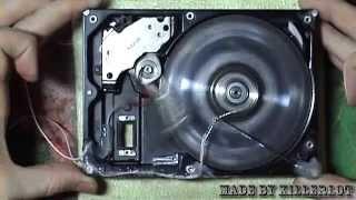 getlinkyoutube.com-Solenoid Engine from HDD. Соленоидный двигатель из жесткого диска.
