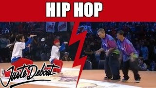 getlinkyoutube.com-Maika & Kazane VS. Fanatixx in Juste Debout Hip-Hop Battle