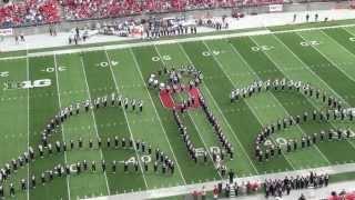 "getlinkyoutube.com-Ohio State Marching Band ""Disney Tribute"" Halftime vs Buffalo: Aug. 31, 2013"