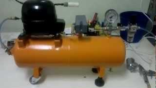 Compressor de ar caseiro