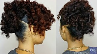 getlinkyoutube.com-Natural Hair | Heatless Curly Updo feat. Zero Frizz