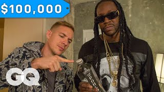 getlinkyoutube.com-Diplo & 2 Chainz Try $100K Bottled Water | Most Expensivest Shit