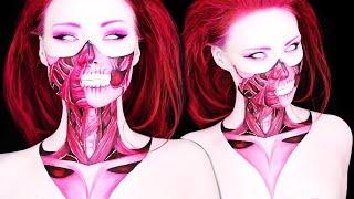 getlinkyoutube.com-A Demon's Little Sister (Body Paint Makeup Tutorial)
