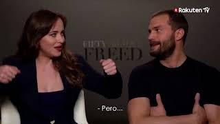 Jamie Dornan & Dakota Johnson - Fifty Shades Freed DVD Release (Spain) quick fire fun!