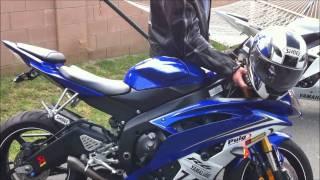 getlinkyoutube.com-Yamaha R6 Walk Around, Slip on Akrapovic Revving, Engine Sound. VLOG