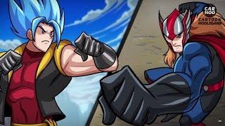 getlinkyoutube.com-GOKU & LUFFY VS THOR & SUPERMAN ( GOFFU VS SUPER THOR ) ANIMACIÓN EPICA