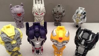 getlinkyoutube.com-TRANSFORMERS BURGER KING KID'S MEAL DARK OF THE MOON FULL COLLECTION REVIEW