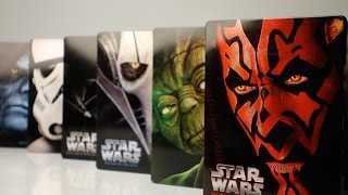 getlinkyoutube.com-Unboxing: Star Wars (Limited Steelbook Blu-rays) I-VI