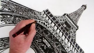getlinkyoutube.com-How to Draw The Eiffel Tower: Time Lapse