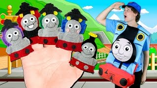 getlinkyoutube.com-Thomas the Tank Engine Finger Family | Thomas and Friends Finger Family Nursery Rhymes