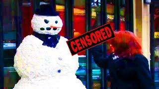 Funny Sh*t: Snow Man Scares People Downtown! (Episode 3)