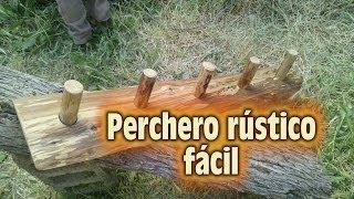 getlinkyoutube.com-Como hacer un Perchero Rústico. How to make a coat rack
