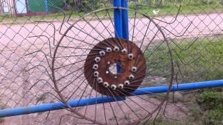 getlinkyoutube.com-Создание граблей ворошилок навесных 4-х колесных солнышко