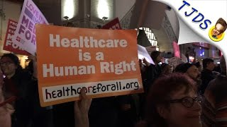 """Live From """"Our First Stand"""" HealthCare Rally Hollywood Blvd. Hollywood"""
