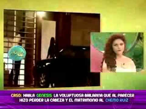 Genesis la voluptuosa bailarina que sale con Chemo Ruiz en el set de MagalyTeVe Parte 1 20/10/2011
