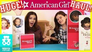 getlinkyoutube.com-HUGE AMERICAN GIRL DOLL SURPRISE BOX HAUL!  Wellie Wishers Melody, House, and Studio!    KITTIESMAMA