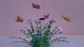 getlinkyoutube.com-Best Out Of Waste Plastic Lovely Butterflies Showpiece