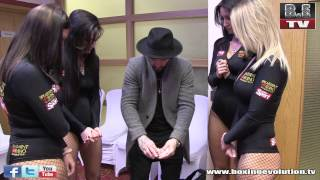 getlinkyoutube.com-Ryan Tricks performs for the Spearmint Rhino girls at the Amir Khan event in Slough