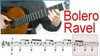 getlinkyoutube.com-♫♫ Ravel - Bolero - Guitar Tutorial (Score & TAB)