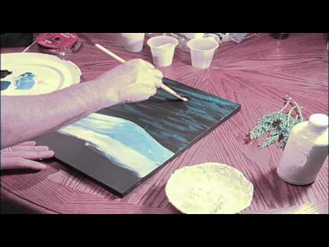 Creating a Winter Wonderland Snowman Paiting with Tim Gagnon (part 1 of 2)