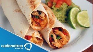 getlinkyoutube.com-Receta de saludables tacos de pollo