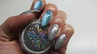 getlinkyoutube.com-Snake Skin Nail Art & Metal Manix - Indigo & Madam Glam