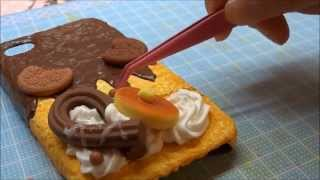 getlinkyoutube.com-Sweets Deco スイーツデコ スマホケースをデコってみた
