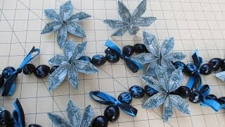 getlinkyoutube.com-How to Make an Origami Money Flower and Kukui Nuts Lei - asimplysimplelife