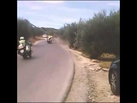Accidente Guardia Civil Tráfico en la Vuelta Ciclista a España 2014
