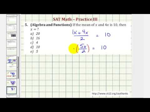 SAT Math (Algebra and Functions) - Practice 3.5