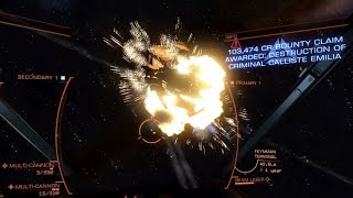 getlinkyoutube.com-Eagle vs Elite Anaconda assassination mission - Elite Dangerous