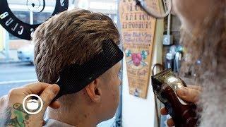 Men's Blended Quiff Haircut from Master Barber