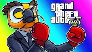 GTA5 Online Funny Moments - Vehicle Avalanche and the Gentleman's Fight! width=