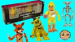getlinkyoutube.com-Five Nights A Freddy's Set One Funko Vinyl Chica, Cupcake, Foxy, Golden Freddy Game Box Set