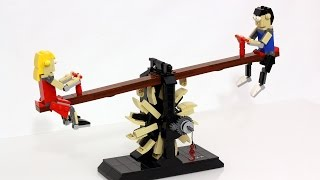 getlinkyoutube.com-LEGO Escapement Sculpture 2 - Seesaw