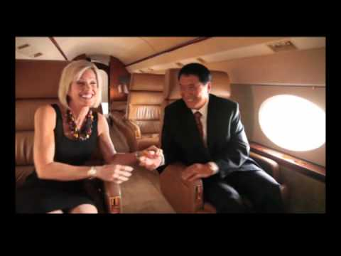 "Robert Kiyosaki Author of ""Rich Dad Poor Dad,"" and Kim Kiyosaki with Jetset Magazine"