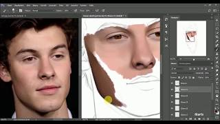 shawn mendes digital drawing - time lapse