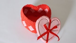 getlinkyoutube.com-How To: 3D Origami Heart Box For Jewelry - Part 1