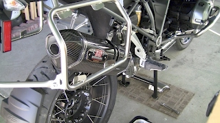 How to install Yoshimura Exhaust on 2017 BMW R1200GS Adventure Motorcycle Triple Black