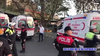 Özel halk otobüsü yayalara çarptı. 13 yaralı