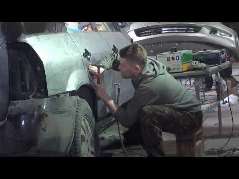 Кузовной ремонт Acura MDX Работа с правым бортом.