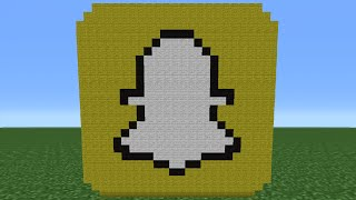 getlinkyoutube.com-Minecraft Tutorial: How To Make The Snapchat Logo