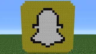 Minecraft Tutorial: How To Make The Snapchat Logo