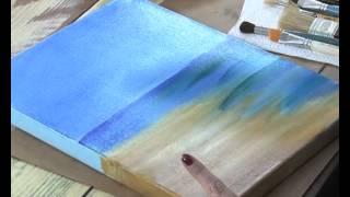 getlinkyoutube.com-Patinas, Decoupage y Pintar un paisaje - Claudia Kunze y Silvia Mongelos