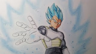 getlinkyoutube.com-Drawing Vegeta  Super Saiyan blue - Resurrection F'