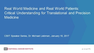 Critical Understanding for Translational and Precision Medicine