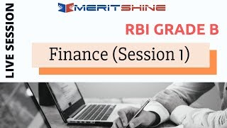 RBI Grade B - Finance (Session-1)