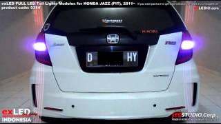 getlinkyoutube.com-exLED FULL LED Tail Lights Modules for HONDA JAZZ (FIT), 2011~